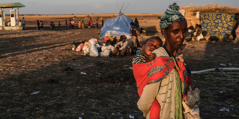Carestia nel nord dell'Etiopia